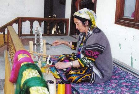 Orientalische Mädchen usbekische Frauen