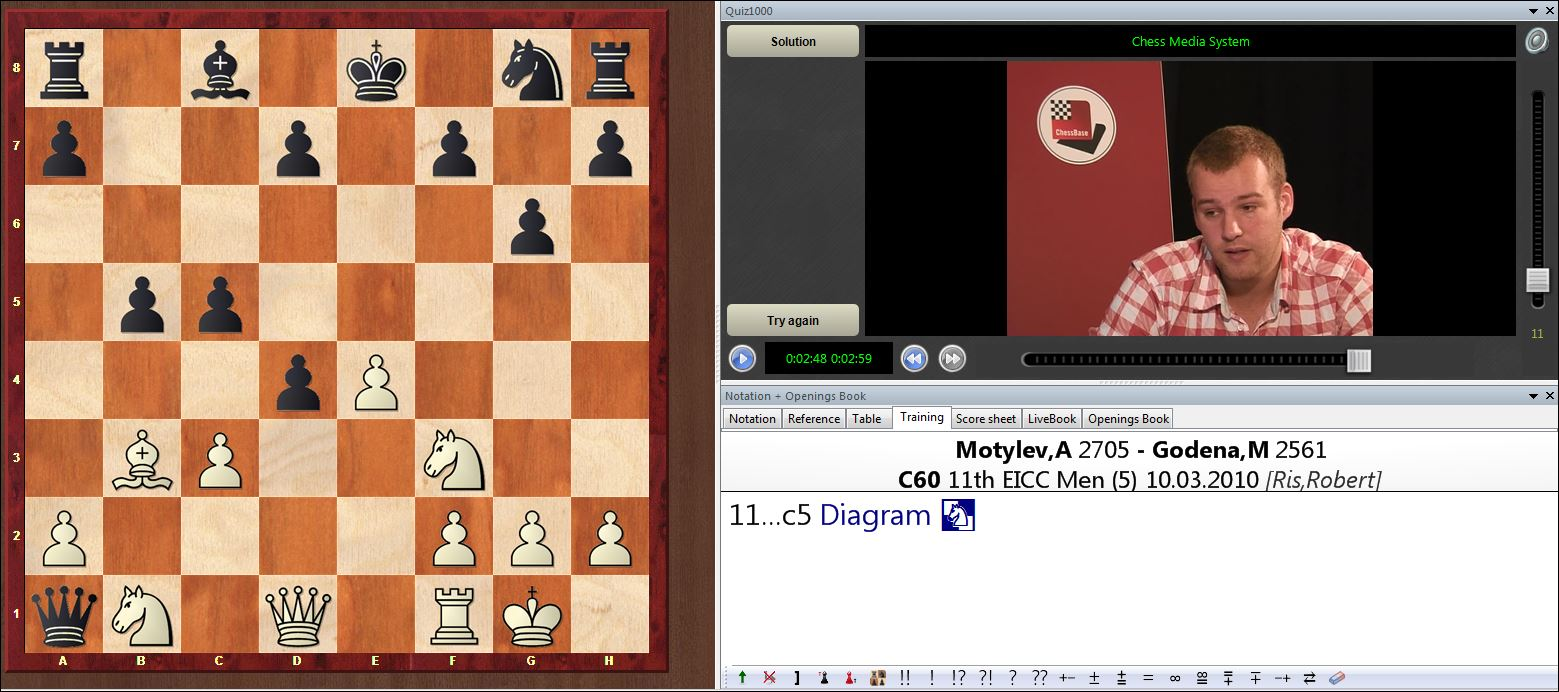 A snippet from Robert Ris' DVD, 'The Chess Player's Mating Guide: Volume 1'