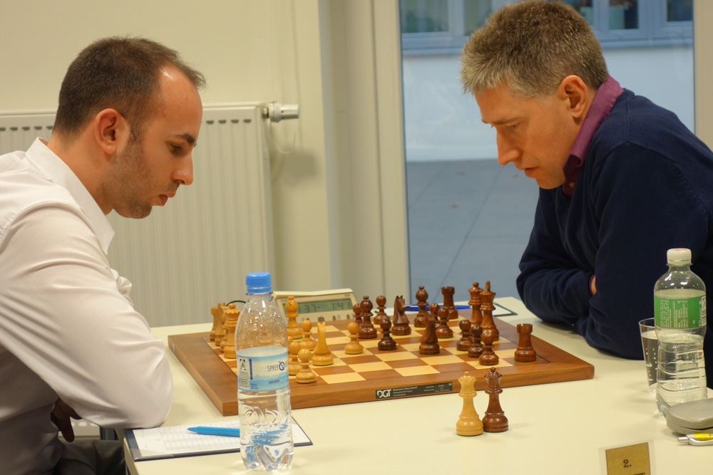 Lawrence Trent y Michael Adams | Foto: André Schulz (ChessBase)