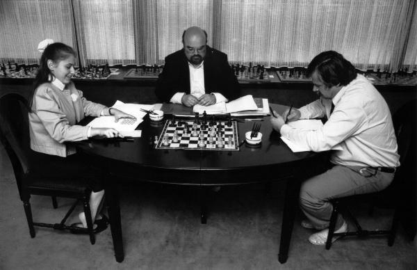 Judit Polgar, Gisbert Jacoby, Vlastimil Hort | Foto: archivo de ChessBase