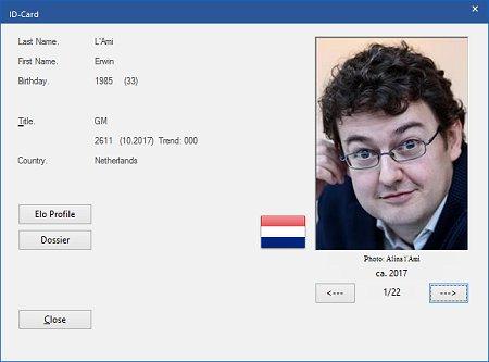 Es werden diejenigen Informationen angezeigt, die zu Erwin l'Ami in der Spielerdatenbank enthalten sind