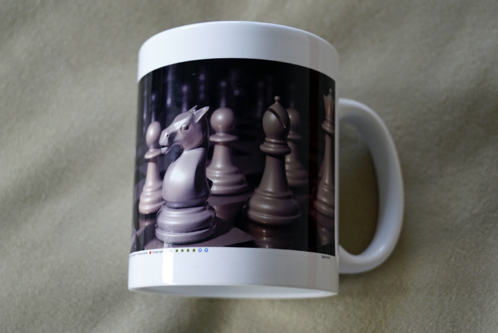 chess on a mug
