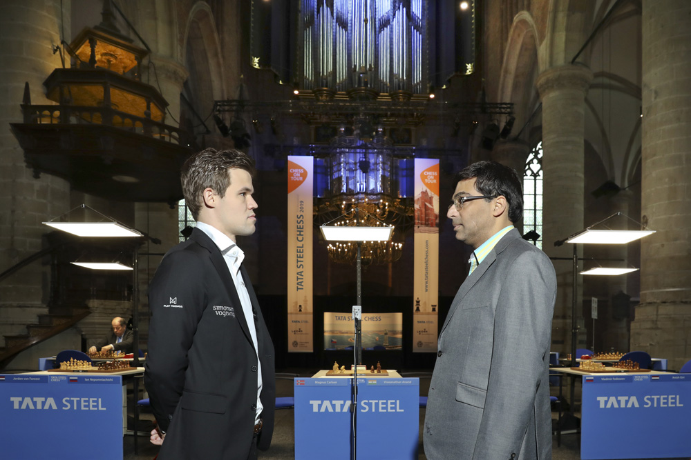 Anand and Carlsen at Tata Steel Chess 2018