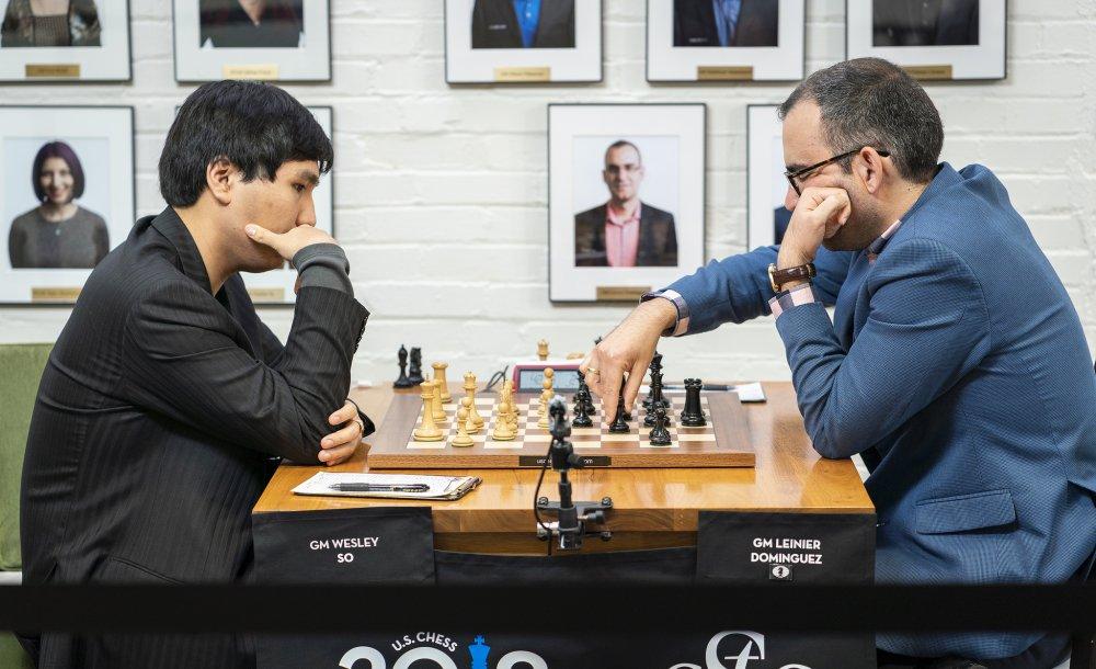 Wesley So vs. Leinier Domínguez| Foto: Lennart Ootes / Saint Louis Chess Club