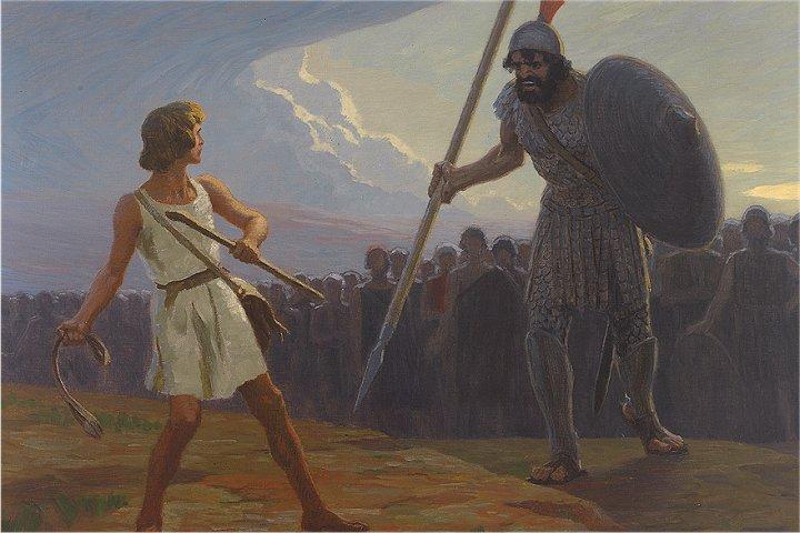 David Gegen Goliath Bibelstelle